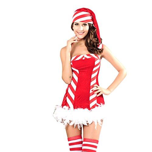 Pinkyee Damen Kostüm Gr. Einheitsgröße, rot (2) (Womens Mad Hatter Halloween Kostüme)