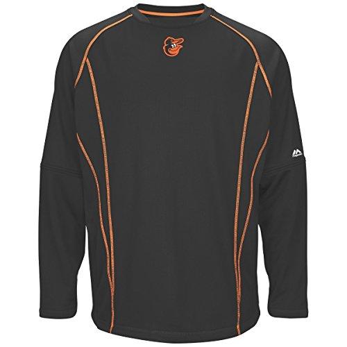 Baltimore Orioles Majestic MLB Authentic On-Field Crew Pullover Sweatshirt