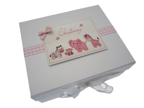 White Cotton Cards Aufbewahrungsbox für Erinnerungsstücke, Taufgeschenk, A5, aus der Spielzeug-Reihe, Rosa