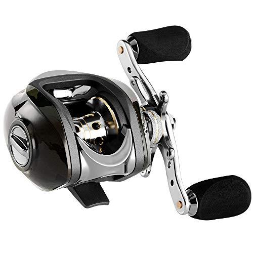 Z ZANMAX Carrete de Pesca, Rodamientos de Acero Inoxidable, Súper Drag, Doble Frenado con Modulación Magnética Carrete de Agua Dulce de Agua Salada