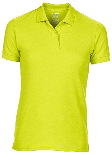 Womens Dryblend Doppel Pique Poloshirt von Continental Clothing - 13 Farben Avil Safety Green