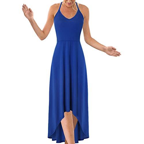 Wtouhe Femme Robe, 2019 Mode Femme Casual Lace Up O-Cou Papillons Imprimer Swing Sleeve Dress, Cocktail Party, Vintage Robe ImpriméE Taille Haute,Jupe Genou,Vert,Violet,Bleu,Orange,Taille S-2Xl