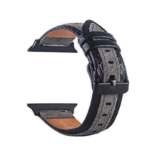 TianranRT Leder Handgelenk Uhr Strap Band Schnalle Gürtel Ersatz für IWatch Apple Watch (B, 42mm) - Tv 26 Samsung