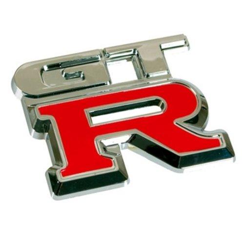 3D07230 - Chrome rouge 3D emblème de la voiture auto adhésif logo caractères (3M auto-adhésif) GTR