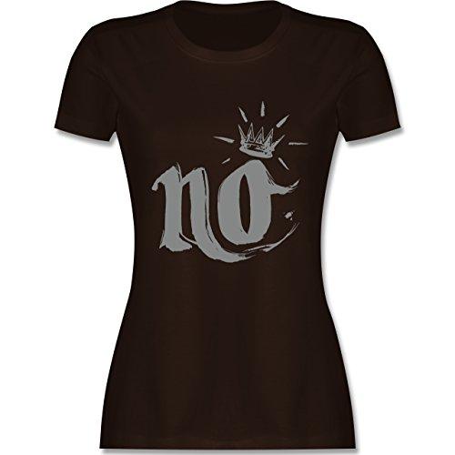 Statement Shirts - Nö Krone - tailliertes Premium T-Shirt mit Rundhalsausschnitt für Damen Braun