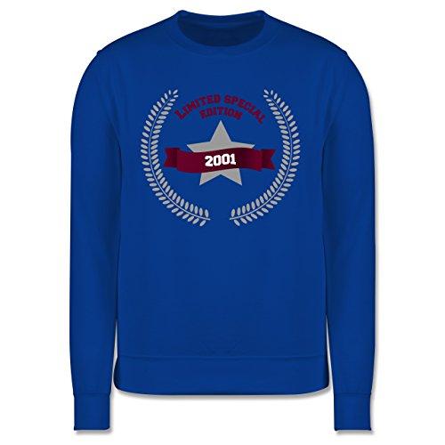 Geburtstag - 2001 Limited Special Edition - Herren Premium Pullover Royalblau