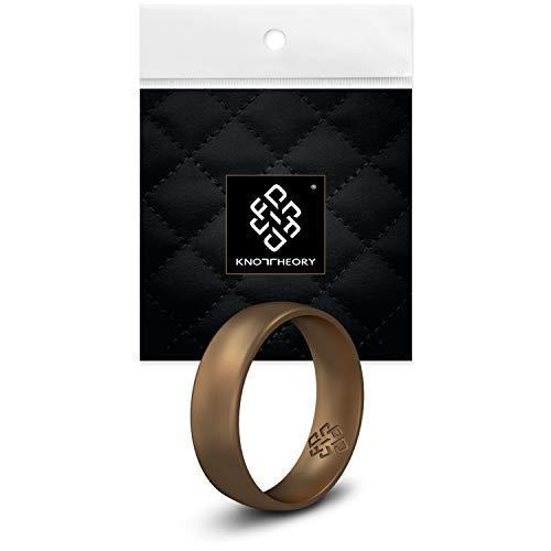 Knot Theory Silikon Hochzeitsring Ring/Ehering für Männer und Frauen in Antikes Gold - Bequeme Passform - Größe 6 4mm