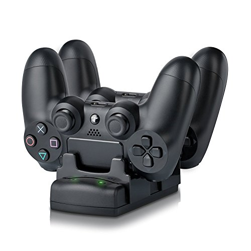 PlayStation 3/PS3 Move/PS4 Controller Charger Dock Stand with USB Cable, 2 Port Charging Dock Station DualDock Charger Stand 3-in-1