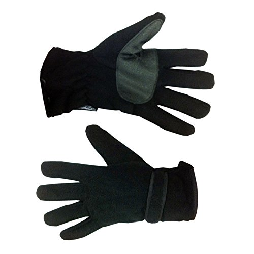 RJM Herren Thinsulate 40Gramm Winter Handschuhe, verschiedene Farben & Größen Gr. Medium/Large, Schwarz - Schwarz