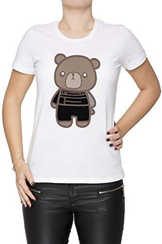 Erido Inverno fischio Orso 1 - Orso Donna Girocollo T-Shirt Bianco Maniche  Corte Dimensioni 04cfc533e124