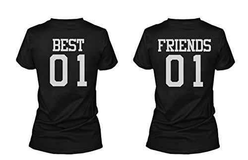 Camisetas a Juego de mejores amigos negro negro