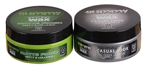 Fonex Styling Pack NEW : Gummy Styling Wax Matte Finish & Casual Look (je 150 - Pommade Wachs Männer