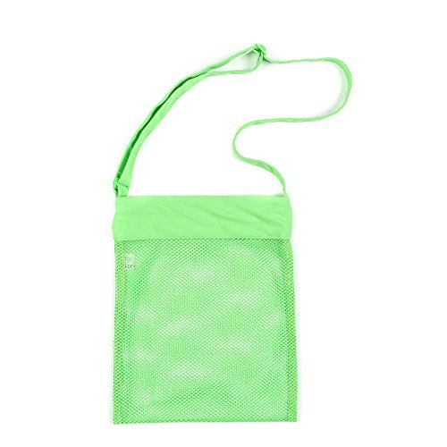 Beach Mesh Bags, PJS-MAX Mesh Beach Tote Bag with Adjustable Should Strap - Stay Away from the Sand Size 10.5*13.5 Inch (Green) by PJS-MAX (Tote Bag Mesh-beach)