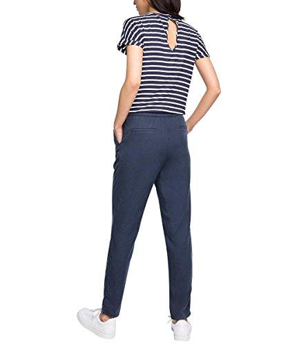Esprit 046ee1l003-Striped, Combinaison Femme Multicolore (NAVY 400)
