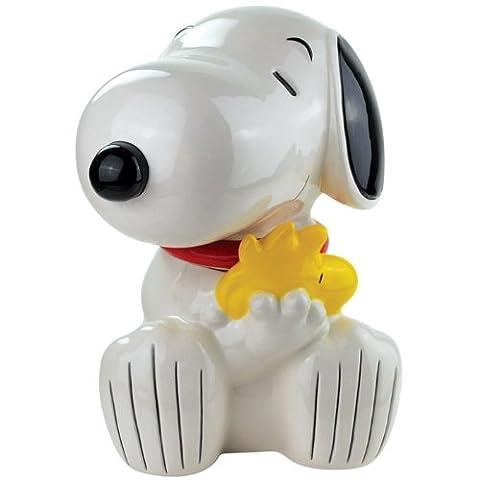 Westland Giftware Snoopy Hugging Woodstock Ceramic Cookie Jar, 10.75-Inch by Westland Giftware (Snoopy Charlie Brown Christmas)