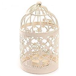 Gespout Metall Teelicht Laterne aus Eisen Vintage-Stil klassischer europäischer Stil Kerzenständer Laternen Hohle Kerzenständer Hängend Kerzenhalter Home Tischdekoration Birdcage Kerzenhalter