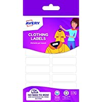 Avery Non-iron Clothes Labels, 45 x 13 mm, 36 Labels Per Pack, White