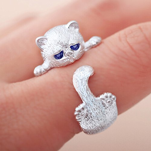 Yinew Damen Ring Retro Süße Katze Sterne Ring Freundinnen Geschenk Damen Schmuck