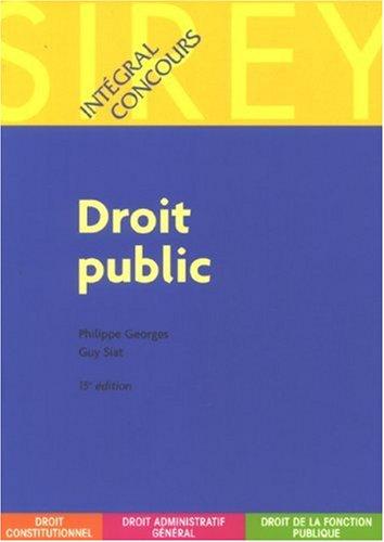 Droit public par Philippe Georges