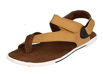 Fucasso Men's Synthetic Brown Tan Sandals-6UK