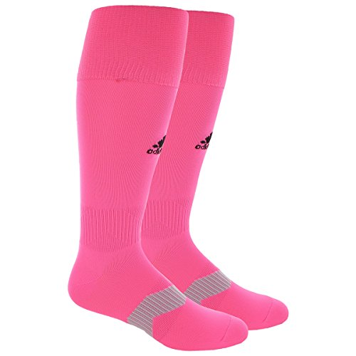 adidas Metro IV Soccer Socks, Ultra pop pink, Large