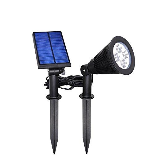 LED Solar Strahler Outdoor Wand Licht Boden Beleuchtung 4LED Wasserdicht Sicherheit Lampe LED Landschaftsbau Lichter