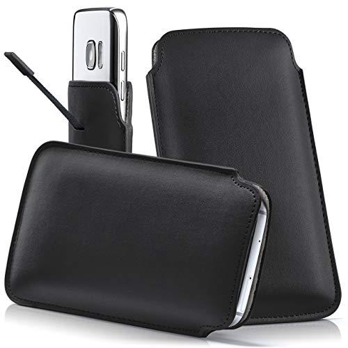 moex Samsung Galaxy On5 Pro | Hülle Schwarz Sleeve Slide Cover Ultra-Slim Schutzhülle Dünn Handyhülle für Samsung Galaxy On5 Pro Case Full Body Handytasche Kunst-Leder Tasche