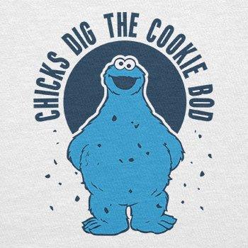 TEXLAB - Chicks dig the Cookie Bod - Herren T-Shirt Weiß