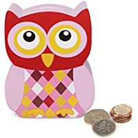 Tap Tap–23105–Owl Money Box Made of Wood