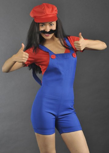 yle Mario Plumber Kostüm S (UK 8-10) (Computer-spiel Fancy Dress)