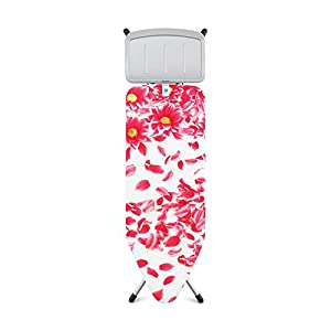 Brabantia Pink Santini Ironing Board with Solid Steam Unit Holder, L124 x W 45 cm, Size C