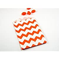 Orange Chevron Stripes on White Middy Bitty Flat Paper Bags 5 X 7 1/2 Inches Set of 25 Bags by Whisker Graphics preisvergleich bei billige-tabletten.eu