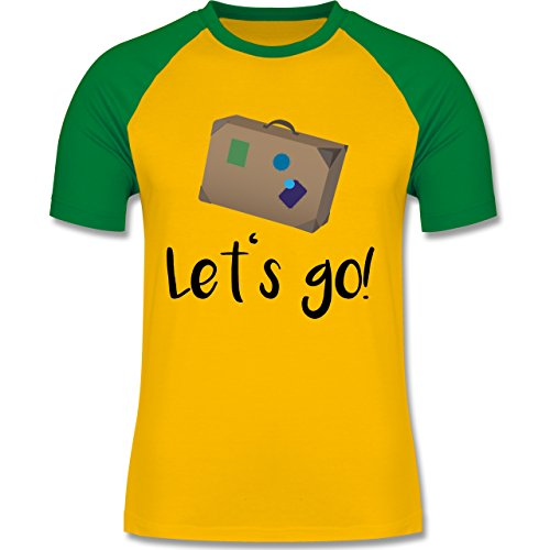 Länder - Reiselust - zweifarbiges Baseballshirt für Männer Gelb/Grün