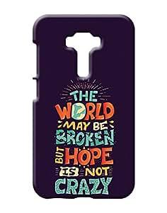1on1 Selfie Back Cover for Asus Zenfone 3 (Multi-coloured)