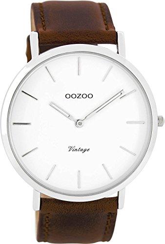 Oozoo Herrenuhr Digital Quarz mit Lederarmband – C7752