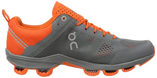 On Running Cloudsurfer Neon Grey Grau (Rock / Orange)