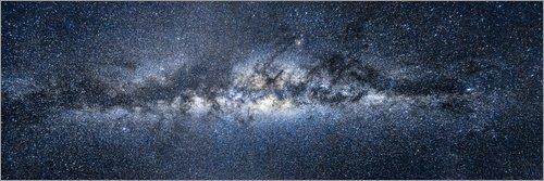 Posterlounge Acrylglasbild 120 x 40 cm: Milchstraße Panorama von Jan Christopher Becke - Wandbild, Acryl Glasbild, Druck auf Acryl Glas Bild