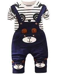 Oyedens Ensembles Shorts et Haut Garçon Naissance Mode Infantile enfant Bébé  Garçons T-Shirt Tops Chemise + Pantalon Tenues Vêtements… 4b4f62b4b2be