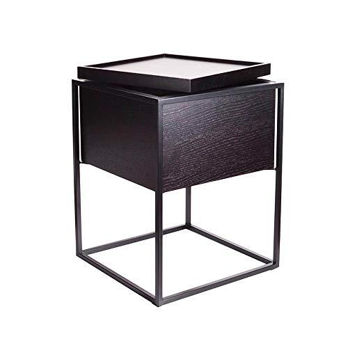 Tables FEI - Bureau d'ordinateur d'appoint avec Rangement - Noir pour Tous Les postes de Travail