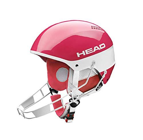 HEAD STIVOT Youth SL Kinderskihelm mit Kinnbügel (pink) (M/L (56-59 cm) UVP 129,00