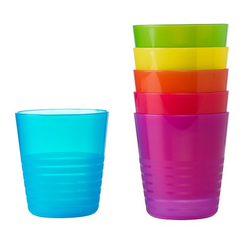 Ikea Kalas 101.929.56 BPA-Free Tumbler, Assorted Colors, 6-Pack, Set of 2 by Ikea