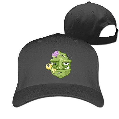 Classic Cotton Hat Adjustable Plain Cap, Terrible Facial Expression Plain Baseball Cap Adjustable Size Curved Visor Hat 428