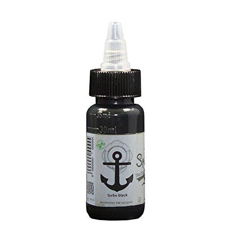 Sailor Jerry Tattoofarbe Magic Black (Magic Schwarz) 30 ml. Made in GERMANY! Mit Zertifikat! Tätowierfarbe, Tattoo Ink, Vertrieb durch HAN-SEN GmbH!