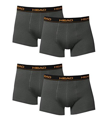 HEAD Herren Boxershorts 841001001 4er Pack, Wäschegröße:L;Artikel:841001001-862 dark shadow -