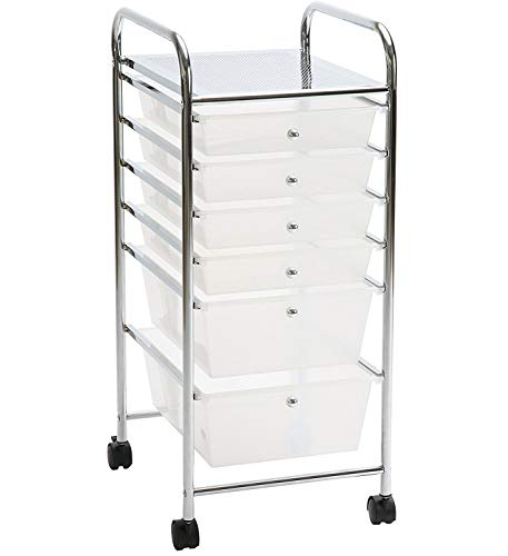 Aspect Aspen 6-Drawer Oficina/salón de Belleza/casa de Carro, Color Blanco, 33 x 39 x 81 cm