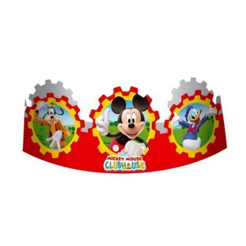 Mickey Mouse Clubhouse Party - Micky Maus Geburtstag Party Krone Headbands X 6