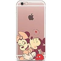 f187e56e01c Desconocido Funda iPhone XS MAX, Mickey Mouse Minnie Mouse Beso Disney  Silicona TPU Gel,