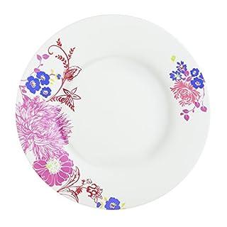 Dajar 00049 Speiseteller Alys Luminarc Glas, Weiß/Violett / Rosa, 28 x 28 x 1,9 cm, 1 Einheiten