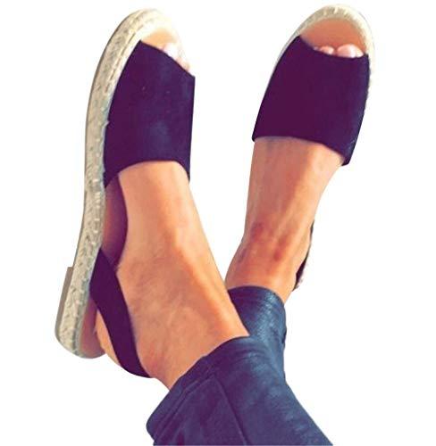 Damen Sandaletten,Tomatoa Frauen Schuh Sommerschuhe Knöchelriemchen Zehentrenner Damen Schuh Offene Flache Strandschuhe Outdoor Schuhe Gr.35-43 - Toe Open Größe Hausschuhe 10 Damen