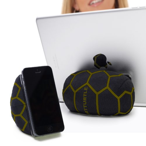 SMARTTURTLE multifunktionale iPad Halterung, Made in Austria, Sitzsack für Smartphone, Handy, eReader, Tablet, iPhone, iPad Air 1/2/3/4, Samsung Note Galaxy für Tisch, Bett, Sofa, Auto uvam - camouflage